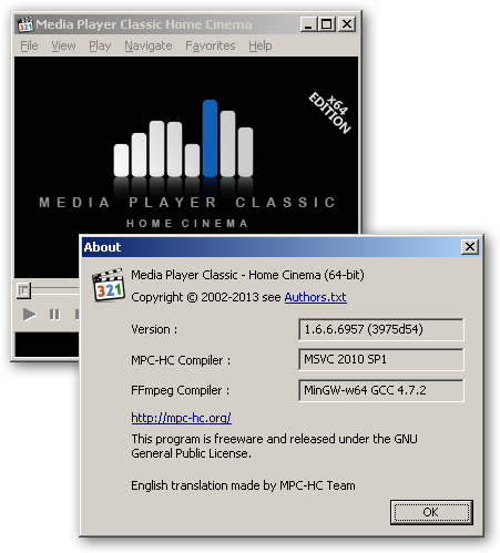 Media Player Classic - Home Cinema 64bit version