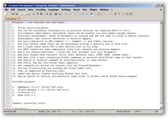Notepad++ 64-bit version
