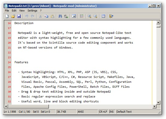Notepad2-mod 64-bit version