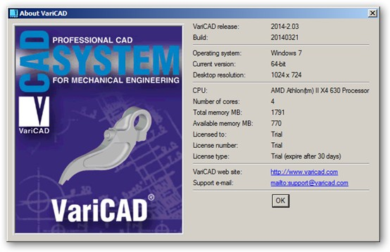 VariCAD 64-bit version