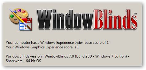 WindowBlinds under Windows 7 64bit